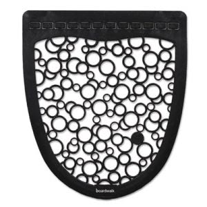 Boardwalk Urinal Mat 2.0, Rubber, Black/White, 6 Mats (BWKUMBW)