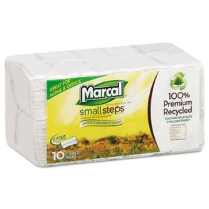 Marcal Embossed Paper Towels, C-fold, White, 150/Pack (MRC6724)