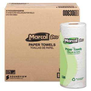 Marcal Pro Kitchen 2-Ply Paper Towel Rolls, 30 Rolls (MAC 630)