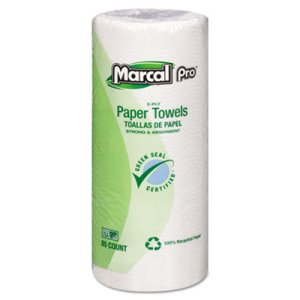 Marcal Perforated Kitchen Towels, White, 2-Ply, 30 Rolls (MRC06350)