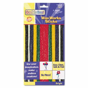 Creativity Street Wax Works Strips, Bright Hues Colors, 48 Pieces (CKC4170)
