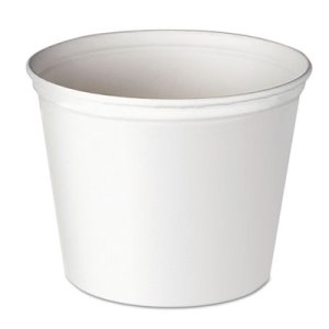Solo Double-Wrapped Unwaxed Paper Buckets, 165-oz, 100 Buckets (SCC 10T1UU)