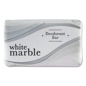 White Marble Individually Wrapped Deodorant Bar Soap, #3, 200 Bars (DIA 00197)