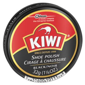 KIWI Black Shoe Polish, 32 g Tin, 144/Carton (DVOCB101113)