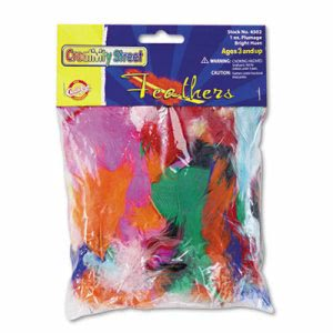 Creativity Street Bright Hues Feather Assortment, Bright Colors, 1 oz (CKC4502)