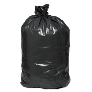 56 Gallon Black Garbage Bags, 43x47, 1 Mil, 100 Bags  (BWK529)