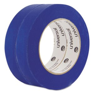 "Universal Premium Blue Masking Tape, 1"" x 60 yd Roll, Blue, 2/Pack (UNVPT14025)"
