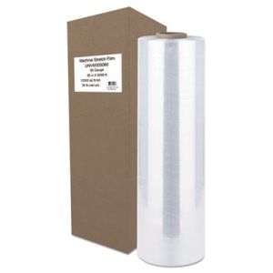 "Universal Machine Stretch Film, 30"" x 5000 ft, 15.2 mic, Clear (UNVM305060)"