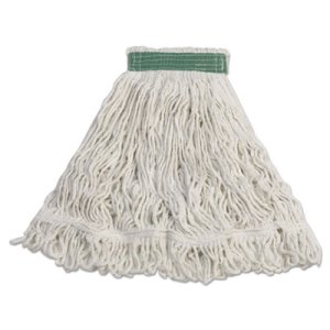 Rubbermaid D412 Super Stitch Rayon Mop Heads, White, Medium, 6 Mops (RCPD412)