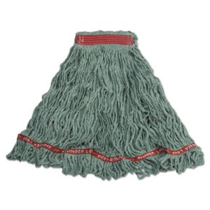 Rubbermaid C113 Swinger Loop Wet Mop Heads, Green, Large, 6 Mops (RCPC113GRE)