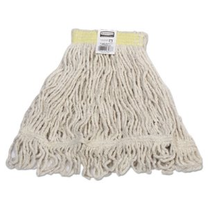 Rubbermaid D211 Super Stitch Blend Mop Heads, Small, White, 6 Mops (RCPD211WHI)