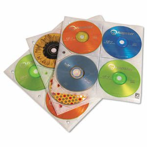 Case Logic Two-Sided CD Storage Sleeves for Ring Binder, 25/Pack (CLGCDP200)