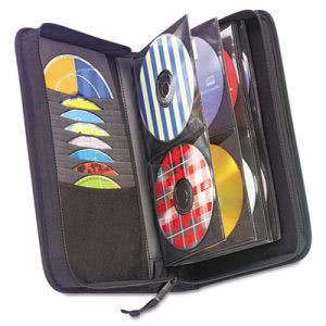 Case Logic CD/DVD Wallet, Holds 72 Disks, Black (CLGCDW64)