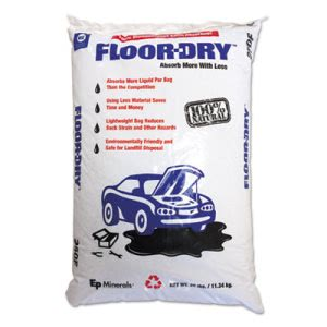 Floor-dry DE Premium Oil Absorbent, Diatomaceous Earth, 25lb Poly Bag (MOL9825)