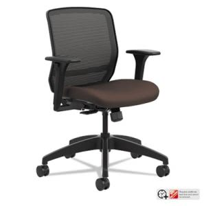 Hon Quotient Series Mesh Mid-Back Task Chair, Espresso (HONQTMMY1ACU49)