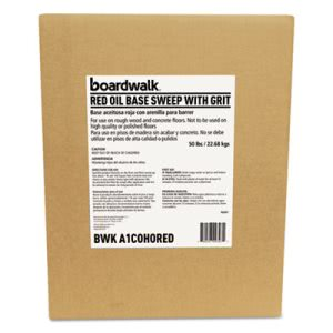 Boardwalk Oil Based Sweeping Compound Grit Red 50lbs