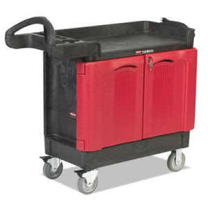 Rubbermaid Commercial TradeMaster Cart, 500-lb Cap, Two-Shelf, 18-1/4w x 41-5/8d x 38-3/8h, Black (RCP451288BLA)