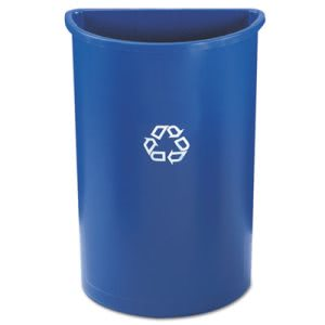Rubbermaid 21 Gallon Half-Round Recycling Container, Blue (RCP352073BLU)