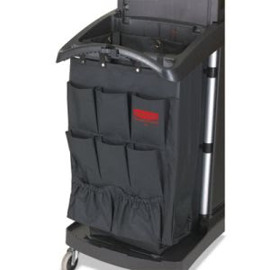 Rubbermaid 9T90 Fabric 9-Pocket Cart Organizer, Black, 6/Carton (RCP9T90BLACT)