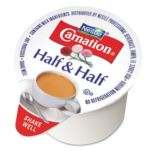Carnation Half & Half Mini Cups, 0.304 oz, 180 Cups (NES21501)