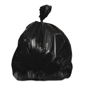 Heritage 45 Gallon Black Trash Bags, 48 x 40, 22 mic, 150 Bags
