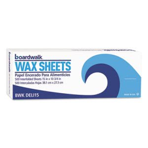 "Boardwalk Deli Paper Sheet, 15"" x 10-3/4"", White, 500 Sheets (BWKDELI15BX)"