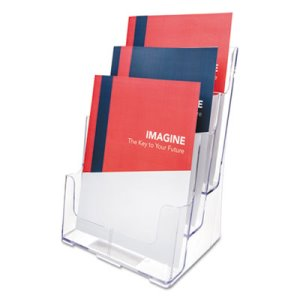 Deflect-o Multi Compartment DocuHolder, 3 Compartments, Clear (DEF77301)
