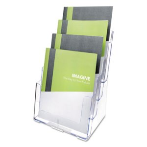 Deflect-o Multi Compartment DocuHolder, 4 Compartments, Clear (DEF77441)