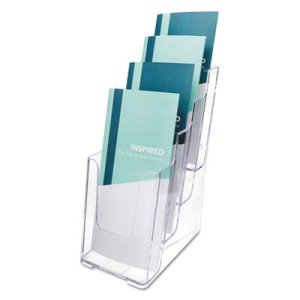 Deflect-o Multi Compartment DocuHolder, 4 Compartments, Clear (DEF77701)