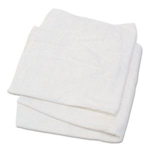 Hospeco Woven Terry Rags, 100% Cotton, White, 170 Rags (HOS53725)