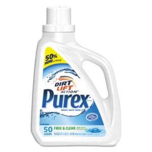 Purex Free and Clear Laundry Detergent, Unscented, 6 Bottles (DIA2420006040CT)