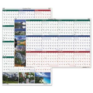 House of Doolittle Earthscapes Nature Scene Reversible/Erasable Yearly Wall Calendar, 24 x 37, 2017 (HOD393)