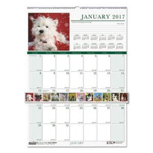House of Doolittle Puppies Monthly Wall Calendar, 12 x 16-1/2, 2018 (HOD3652)