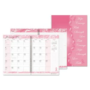 House of Doolittle Breast Cancer Awareness Monthly Planner/Journal, 7 x 10, Pink, 2017 (HOD5226)