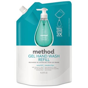 Method Foaming Hand Wash Refill, 28 oz Pouch, Waterfall (MTH01181)