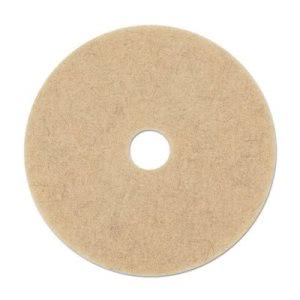 "Boardwalk 17"" Natural Hair Extra Pads, Ultra High-Speed Floor Pads (BWK4017NHE)"
