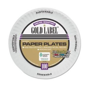 "Gold Label 6"" Coated Paper Plates,  1,200 Plates (AJMCP6GOAWH)"