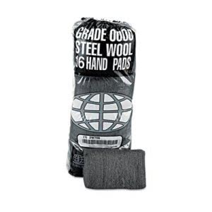 Industrial-Quality Steel Wool Hand Pads, #2 Medium Coarse (GMA117005)