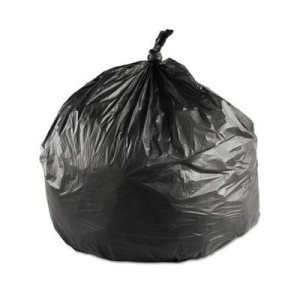 45 Gallon Black Trash Bags, 40x48, 17mic, 250 Bags (IBSS404817K)