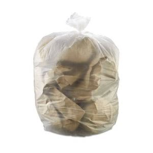 55 Gallon Clear Trash Bags, 36x60, 17mic, 200 Bags (IBSS366017N)