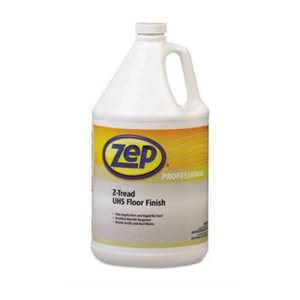 Zep Z-Tread UHS Floor Finish, Neutral, 1 Gallon Bottle, 4 Bottles (ZPP1041453)