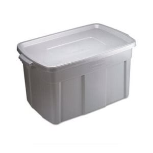 Rubbermaid Roughneck Storage Box, 31 gal, Steel Gray, 9/Carton (RCP2244STECT)