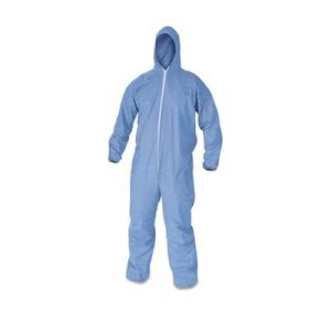 KleenGuard A60 Large Protective Coveralls, Blue, 24 Coveralls (KCC45023)