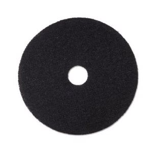 "3M Black 18"" Floor Stripping Pad 7200, 5 Pads (MMM08380)"