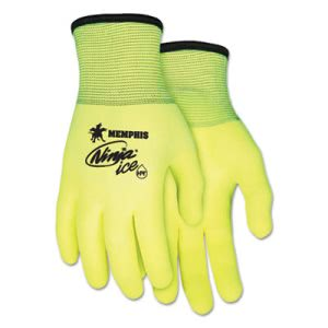 Memphis Ninja Ice Gloves, Large, High Vis Lime, 1 Dozen (CRWN9690HVL)