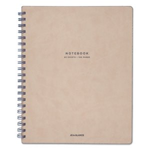 "At-A-Glance Notebook, Legal, 8 3/4"" x 11"", Tan/Navy Blue, 80 Sheets (MEAYP14307)"
