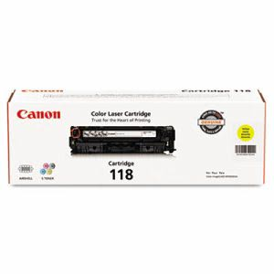 Canon 2659B001 (118) Toner, 2900 Page-Yield, Yellow (CNM2659B001)