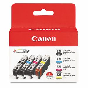 Canon 2946B004 (CLI-221) Ink, 4/Pack, Tri-Color (CNM2946B004)