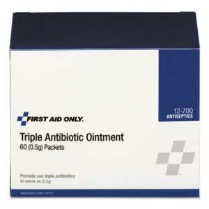 First Aid Only Triple Antibiotic Ointment, 0.5 g Packet, 60/Box (FAO12700)