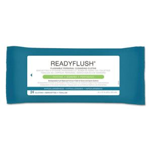 Medline ReadyFlush Biodegradable Flushable Wipes, 24 Packs (MIIMSC263810CT)